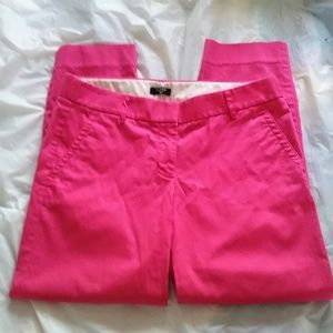 J Crew Hot Pink Skimmer Pants City Fit Cropped 4